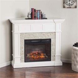 Southern Enterprises Merrimack Corner Infrared Electric Fireplace