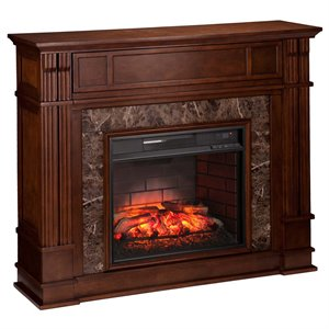 Highgate Media Fireplace in Whiskey Maple