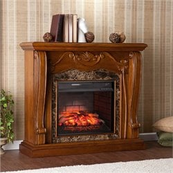 Southern Enterprises Cardona Infrared Electric Fireplace in Walnut