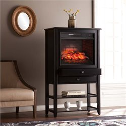 Southern Enterprises Vickery Corner Infrared Electric Fireplace Curio