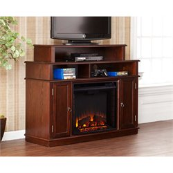 Southern Enterprises Lynden Electric Fireplace TV Stand in Espresso