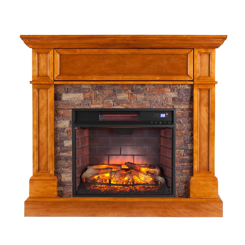 Southern Enterprises Rosedale Infrared Media Fireplace In