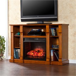 Southern Enterprises Kendall Infrared Electric Fireplace TV Stand