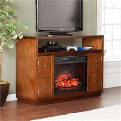 Southern Enterprises Brentford Infrared Electric Fireplace TV Stand