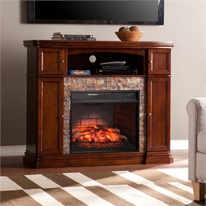 Hillcrest Media Fireplace in Espresso
