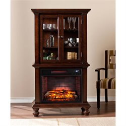 Southern Enterprises Townsend Infrared Electric Fireplace Curio