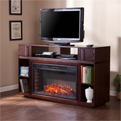 Southern Enterprises Bexley Electric Fireplace TV Stand in Espresso