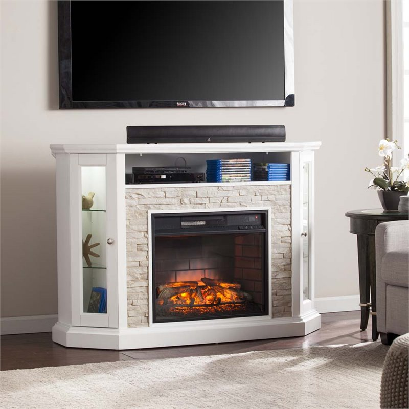 Southern enterprises redden corner electric fireplace tv for Ashley meuble canada