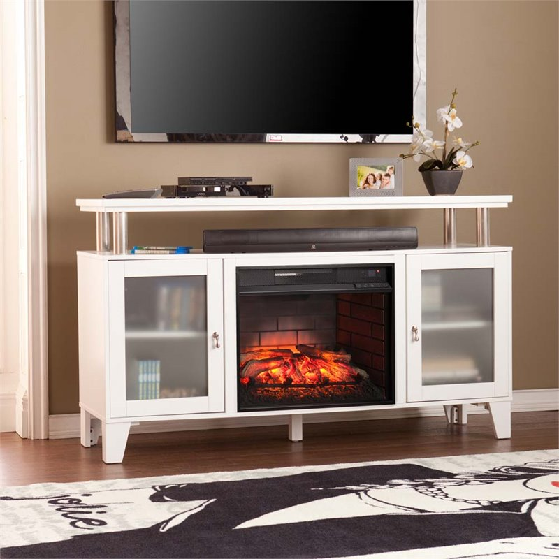 Southern Enterprises Cabrini Infrared Electric Fireplace