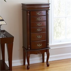 Southern Enterprises Amelia Medium Mahogany Jewelry Armoire