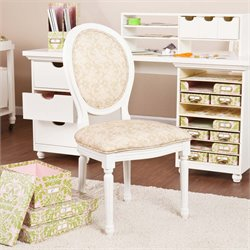 Southern Enterprises Anna Griffin Craft Room Chair in Antique White