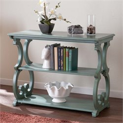 Southern Enterprises Bradbury Scroll Console Table in Agate Green