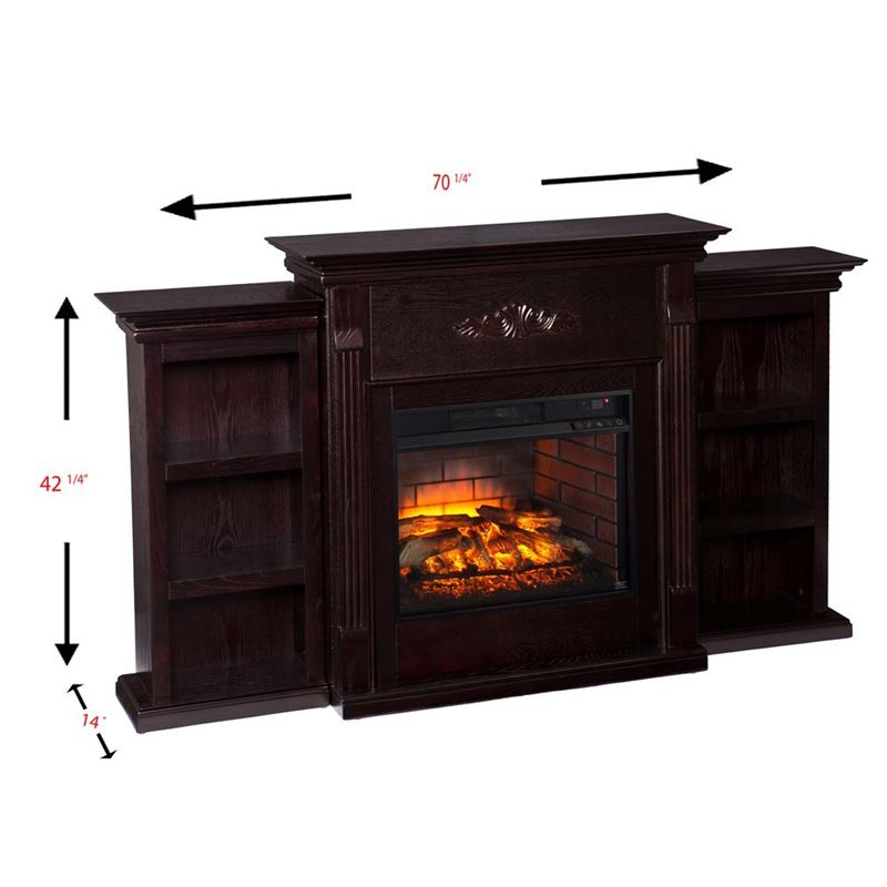 Southern Enterprises Tennyson Infrared Electric Fireplace In Espresso Fi8545
