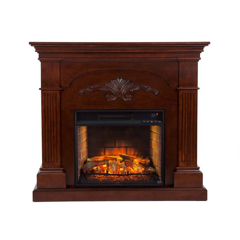 Southern Enterprises Sicilian Harvest Electric Fireplace In Mahogany Fi9277