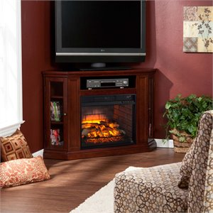 Claremont Corner Fireplace TV Stand