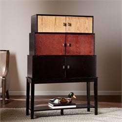 Southern Enterprises Wyman 6 Door Tiered Accent Chest