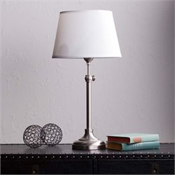 Southern Enterprises Dacey Table Lamp in Satin Steel
