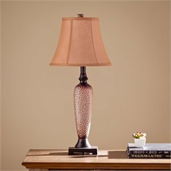 Southern Enterprises Doyle Table Lamp in Brown and Copper