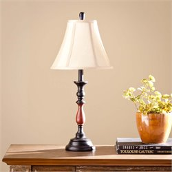 Southern Enterprises Elwyn Table Lamp in Black and Copper