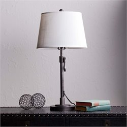 Southern Enterprises Tanner Table Lamp in Brushed Gunmetal