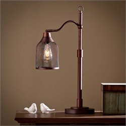 Southern Enterprises Rigby Table Lamp in Coppery Bronze