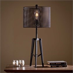 Southern Enterprises Xerxes Table Lamp in Black
