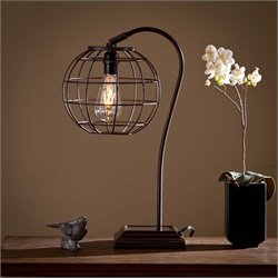 Southern Enterprises Zaine Table Lamp in Chocolate