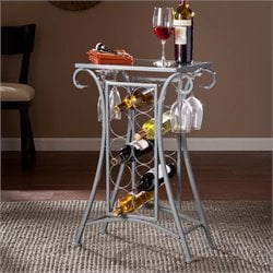 Newnan Glass Top Wine Rack Pub Table