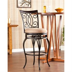 Maguire Swivel Bar Stool in Acorn