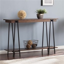 Southern Enterprises Yourman Console Table in Dark Tobacco