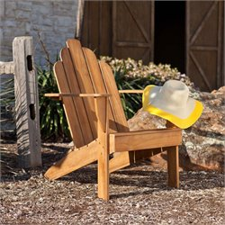 Southern Enterprises Soleil Adirondack Chair in Light Brown Teak