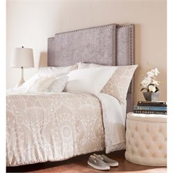Southern Enterprises Gradison Expandable Upholstered Headboard in Gray