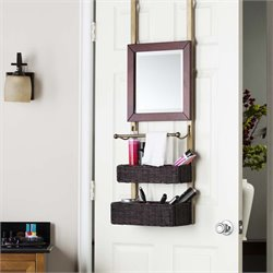 Southern Enterprises Bergamo Over-the-Door Organizer in Espresso