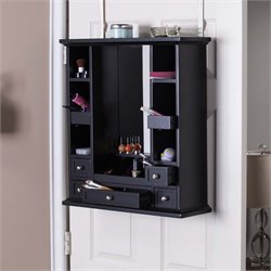 Southern Enterprises Blair Over-the-Door Jewelry Makeup Mirror Storage