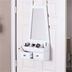 Southern Enterprises Larissa Over-the-Door Mirror Accessory Organizer