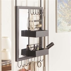 Southern Enterprises Jayla Over-the Door Jewelry Mirror Organizer
