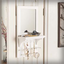 Southern Enterprises Tessa Over-the Door Jewelry Mirror Organizer