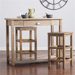 Southern Enterprises Acklin 3 Piece Counter Height Breakfast Table Set