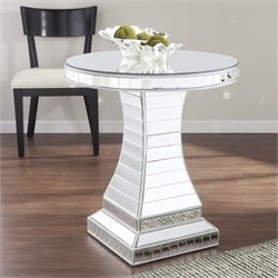 Southern Enterprises Liliana Round Mirrored Bistro Accent Table
