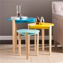 Southern Enterprises Quinby 3 Piece Accent Nesting Table Set