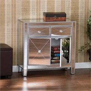 Mirage Colored Mirrored Accent Cabinet