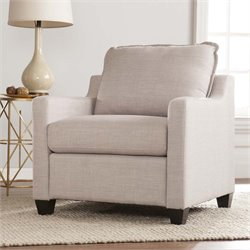 Southern Enterprises Allington Chair in Soft Gray