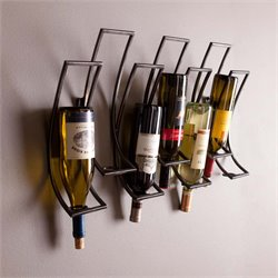 Southern Enterprises Callisto Wall Mount Wine Rack in Antique Black