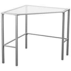 Southern Enterprises Keaton Glass Top Metal Corner Desk