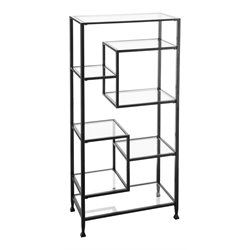Southern Enterprises Jaymes Metal and Glass Etagere