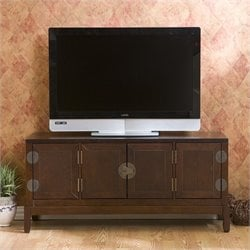 Southern Enterprises Lockborne Media Cabinet in Rich Espresso
