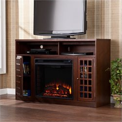 Southern Enterprises Akita Media Electric Fireplace in Espresso