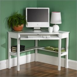 Southern Enterprises Alexander Corner Computer Desk in White
