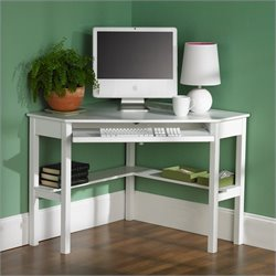 Southern Enterprises Alexander Corner Computer Desk in Painted White