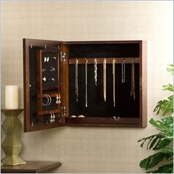 Southern Enterprises Brielle Square Jewelry Armoire in Espresso